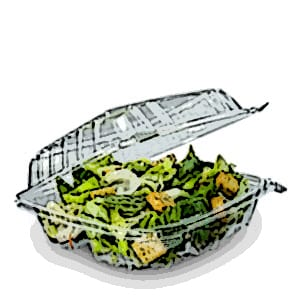 ClearSeal® & StayLock® Clear Plastic Hinged Lid Containers